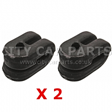 2 X EXHAUST MUFFLER SILENCER TAILPIPE RUBBER MOUNT BRACKET HANGER STAY RENAULT